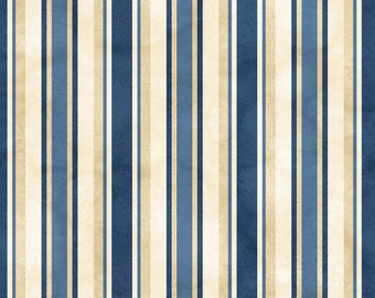 From the Farm - Awning Stripe Blue by Kris Lammers from Maywood Studio