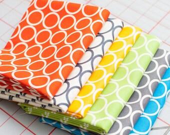 Metro Living Circles Fabric Bundle -  Half Yard Bundle - 6 Half Yard pieces (B256)