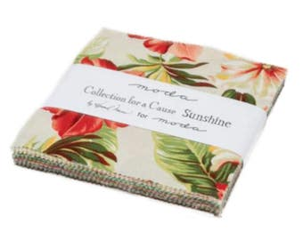 Collections for a Cause Sunshine Charm Pack - 42 Five Inch Squares from Moda
