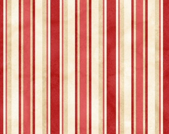 From the Farm - Awning Stripe Red by Kris Lammers from Maywood Studio