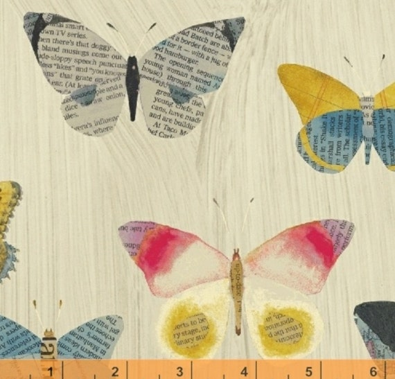 Blend Natural Wonder Packed Butterfly 100/% cotton fabric by the yard