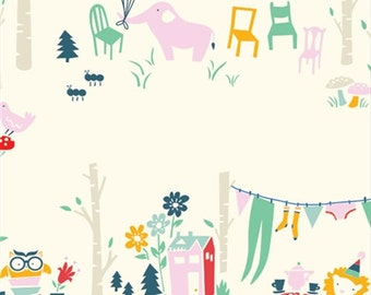 SALE - Everyday Party - Everyday Main - Organic Cotton Print from Birch Organic Fabric