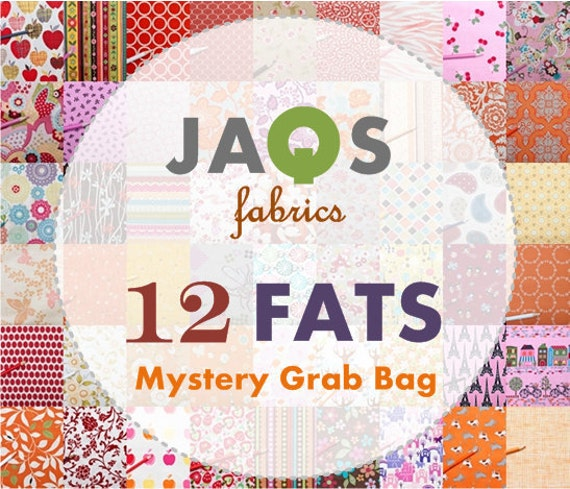 Mystère Grab Bag - 12 Fat Quarter chaud Bundle - vendeur assortiment Fat Quarter tissu de coton imprimé