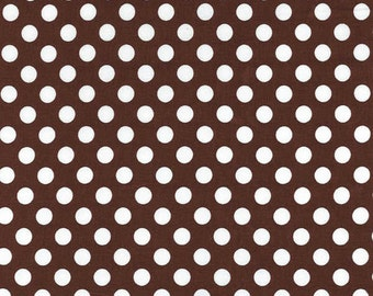 SALE - Ta Dot - Brown Cotton Print Fabric from Michael Miller