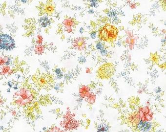 Memoire A Paris - Floral White from Lecien Fabric