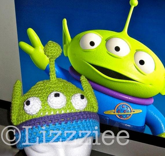 Toy Story Alien Crochet Hat Pattern Pdf Instructions To Make Etsy