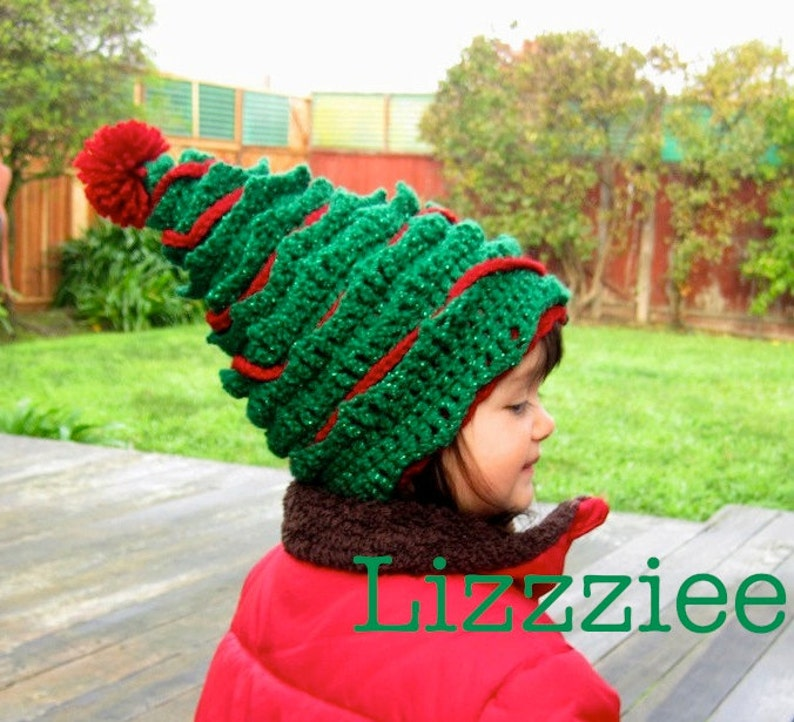 Oh Christmas Tree Crochet Hat PATTERN PDF file Instructions  4d14b0ebba55