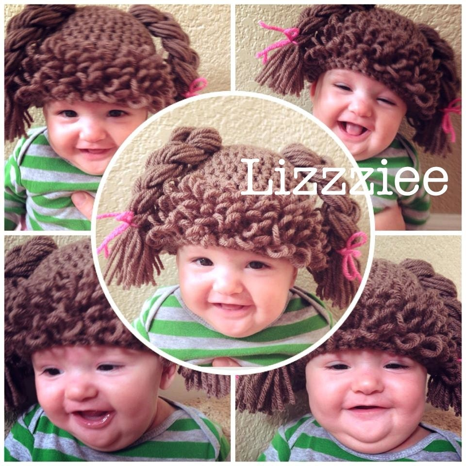 Doll Hair Hat Crochet Pattern Cabbage Patch Wig Easy Etsy