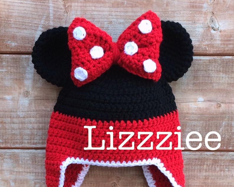 Minnie Mouse Stripe Crochet Beanie PDF Pattern fun to make  1e58862ddd2