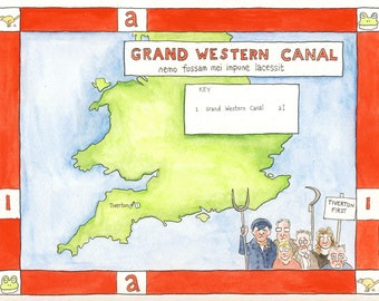 5 postcards - Grand Western Canal