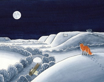 Fox on Pickle Hill - 5 greetings cards
