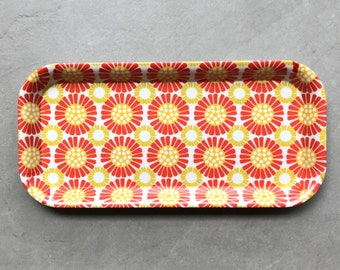 Retro Tray, Colourful Mid Century Design, Housewarming Gift, vintage style, retro Home, vintage home, home office, colourful kitchen