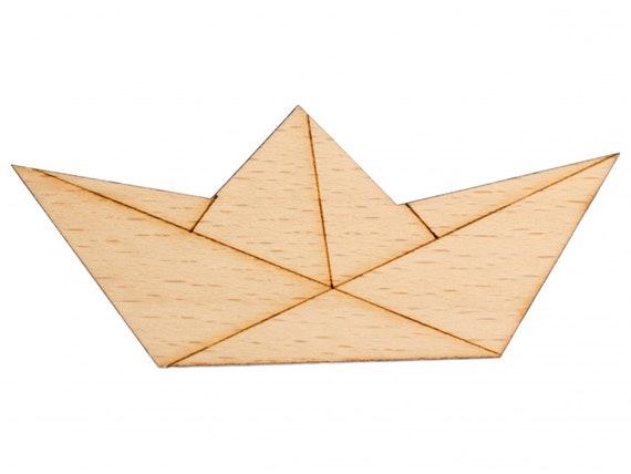 Papierschiff Segelschiff Schlüsselanhänger Miniblings Boot Schiff Origami flach