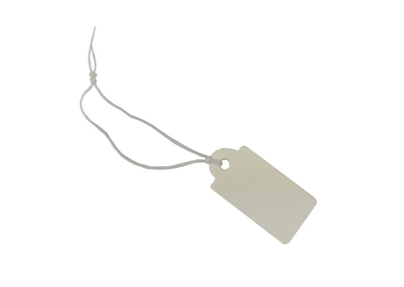 200 Gift Tags Present Miniblings Paper Name Bag Small Note Presents White With Ribbon
