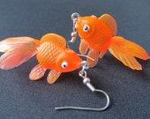 Goldfish Earrings Betta Fish Aquarium Fish Miniblings Koi Neon Orange