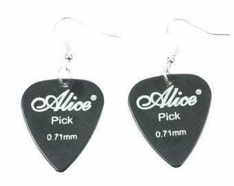 Plectrum Earrings Miniblings Pendant Guitar Electric Guitarist Band Yellow Black