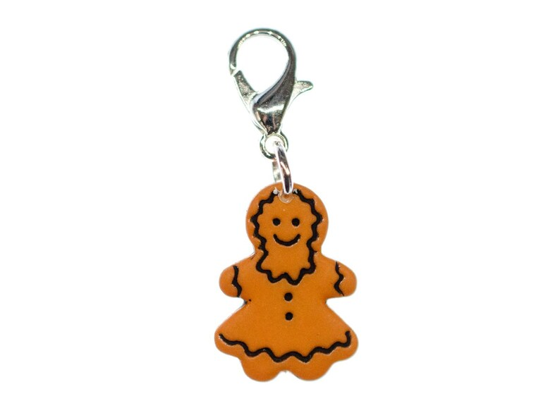 Gingerbread Woman Charm Miniblings Weckmann Christmas Cookies Xmas Stutenkerl