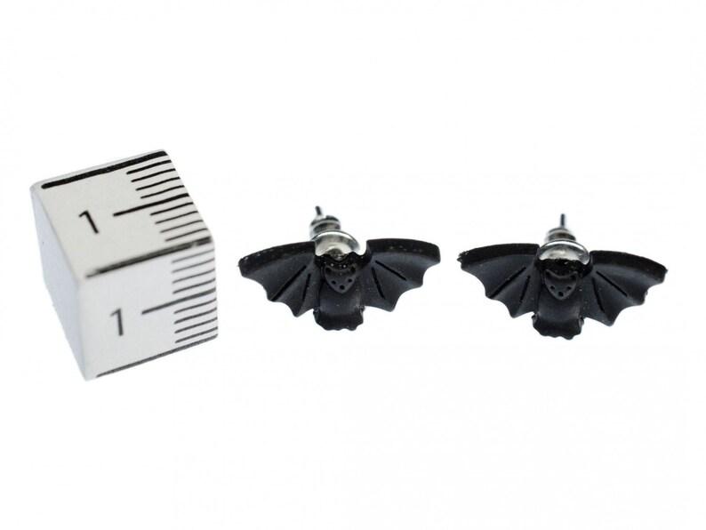 Bat Earrings Ear Studs Earstuds Miniblings Male Animal Vampire Dracula Halloween Bat