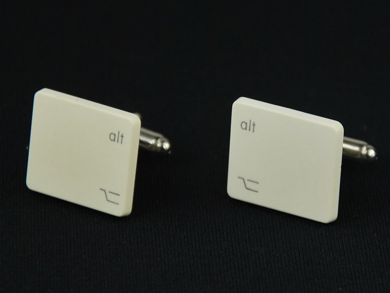 Key Cuff Links Cufflinks Miniblings Vintage Unique Box Button Computer Old
