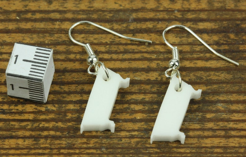 Bath Earrings Miniblings Bath Tub Bath Beauty Acrylic White