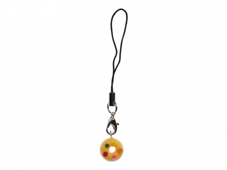 Donut Beads Colorful Mobile Charm Jewelry Miniblings Handyschmuck Eating Cake Biscuit Us