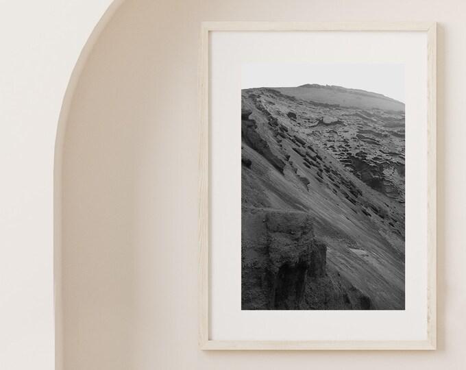 Monochrome El Golfo volcano Lanzarote Fine Art print 2 - from Poetica natura, Misc monochrome