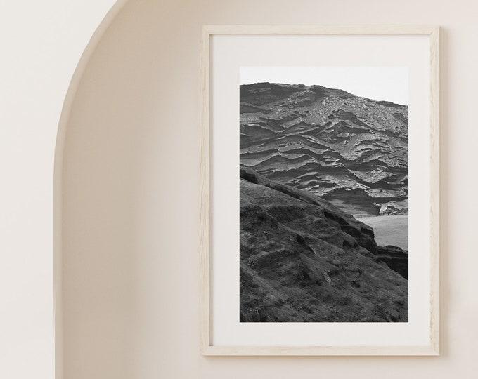 Monochrome El Golfo volcano Lanzarote Fine Art print 12 - from Poetica natura, Misc monochrome