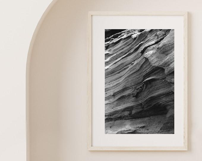Monochrome El Golfo volcano Lanzarote Fine Art print 3 - from Poetica natura, Misc monochrome