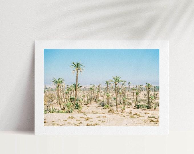 Marrakech Morocco La Palmeraie A5 Postcard 1 - from Vivid fragments of Morocco