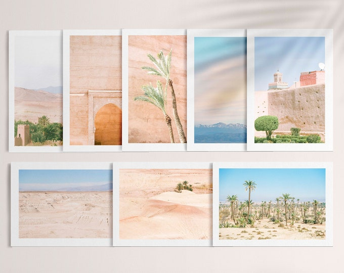 Postcard set of 8 - from Vivid fragments of Morocco