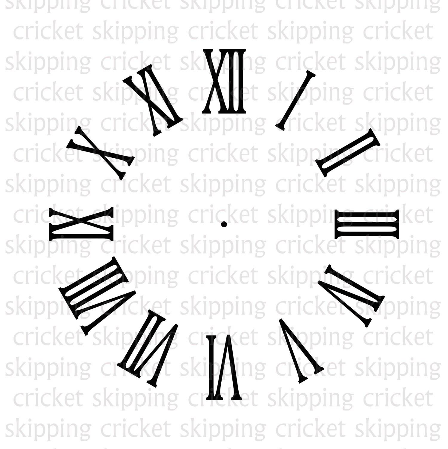 Clock face svg dxf eps cut file for Cricut Silhouette, clockface, clock  template, clock stencil, vector, roman numerals INSTANT DOWNLOAD
