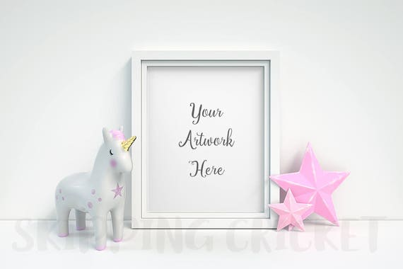 Nursery Unicorn 2 x 3 placecard frame Photo frame Decoration