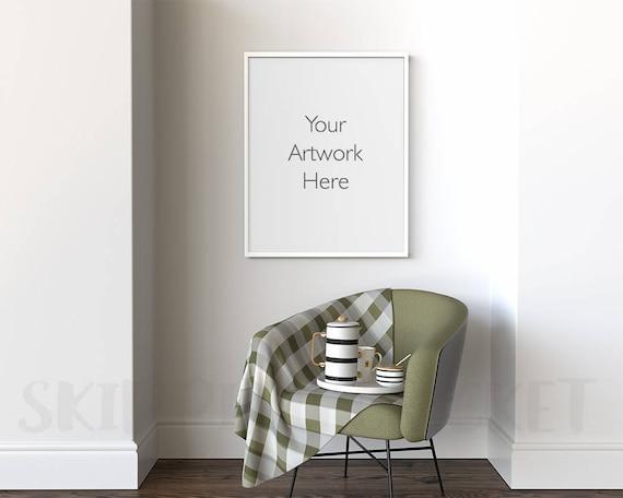 16 X 20 Frame Mockup Poster Frame Mockup Reading Nook 24 X Etsy