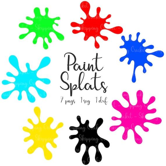 paint splats svg dxf png silhouette cricut vector clipart rh etsystudio com paint splatter vector background paint splatter vector brushes illustrator
