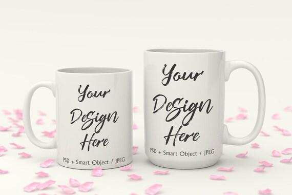 photo of mug Woman holding mug styled mug photo sublimation mug Modeled Mug Mockup White mug mockup stock photo