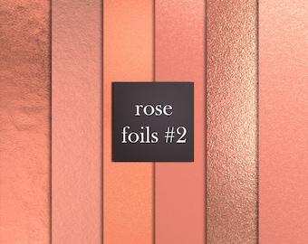 12 rose gold foil digital papers, rose gold digital papers, foil digital papers, rose gold backgrounds, rose gold textures DIGITAL DOWNLOAD