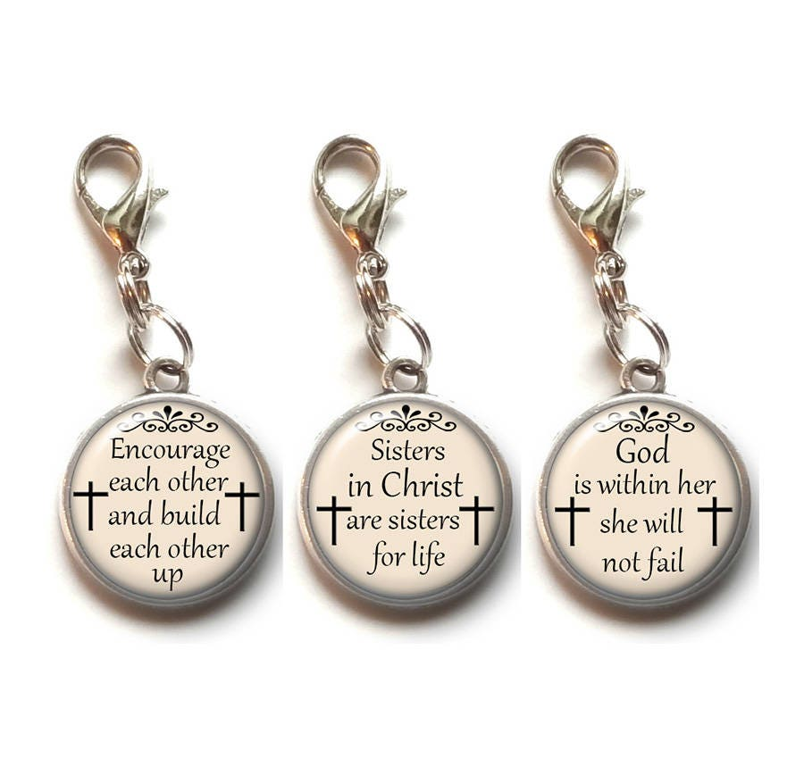 Holy Bible Religious Charm Clip On Pendant w// Lobster Clasp