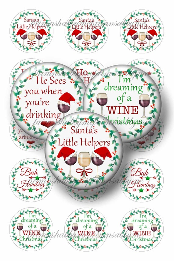 Christmas Humor Quotes.Christmas Bottle Cap Images 1 Inch Circles Digital Collage Sheet Humor Wine Santa Funny Sayings Quotes Crafts Jewelry Cabochons