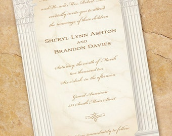 wedding invitations ionic columns wedding invitation cum laude graduation announcement recital program formal wedding invitations in147