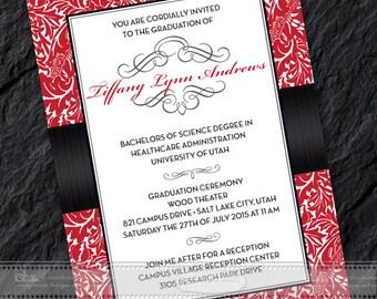 college graduation party invitations etsy