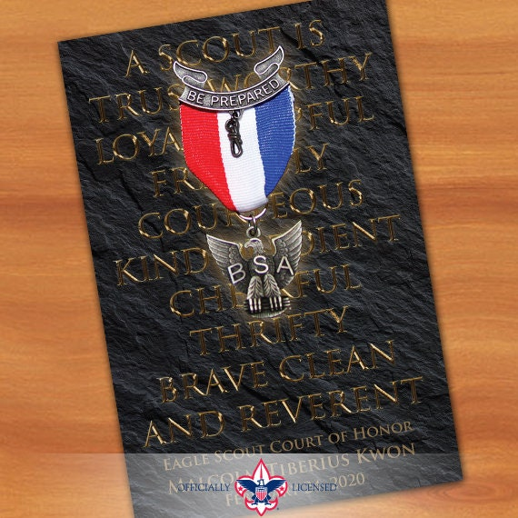 program cover, eagle scout court of honor program cover, Boy Scouts of America program, Court of Honor, BSA, BSA0103