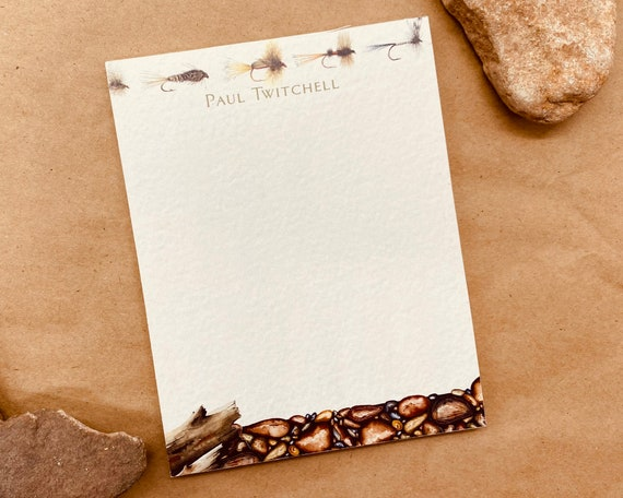 personalized notepad, fly fishing notepad, fly fishing gifts, teacher notepad, personalized teacher gift, teacher appreciation gift, NP114