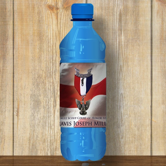 Water Bottle Wrapper, Eagle Court of Honor, Customized, BSA, BSA0806