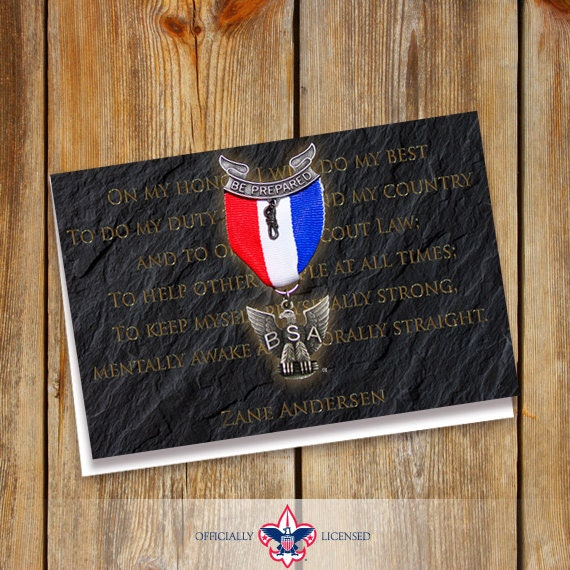 Thank You Cards, Eagle Scout, Customized, Court of Honor, BSA0102