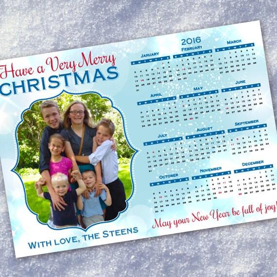 Christmas cards, snowflake calendar Christmas card, calendar Christmas card, winter wonderland calendar Christmas card, IN421