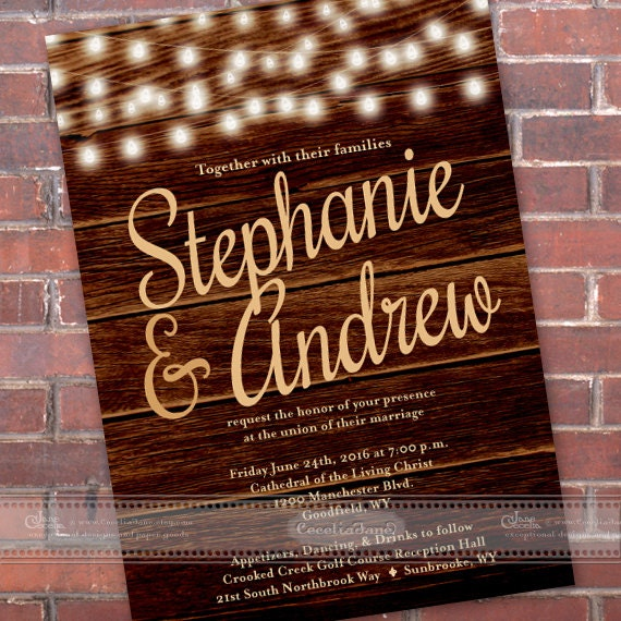 wedding invitations, barnwood wedding invitations, wedding invitations and rsvp, outdoor wedding, wedding package, IN460