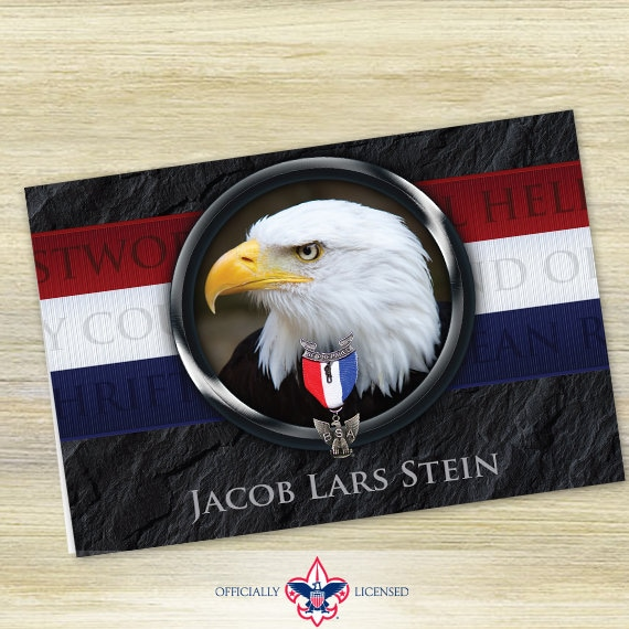 Thank You Cards, Eagle Scout, Customized, Court of Honor, BSA0502