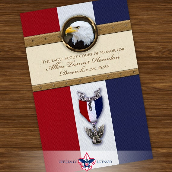 program cover, eagle scout court of honor program cover, Boy Scouts of America program, Court of Honor, BSA, BSA0403