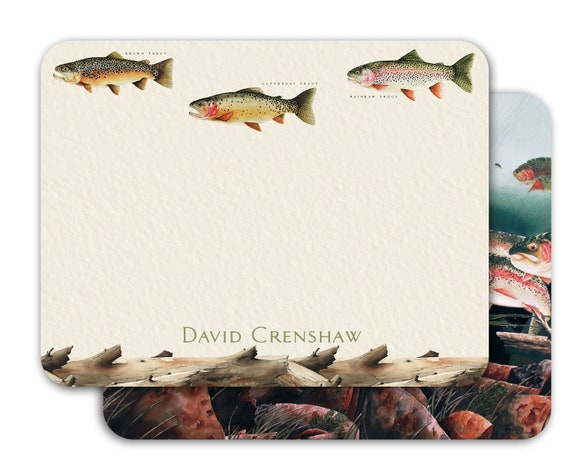 thank you cards, fly fishing notecards, fly fishing thank you cards, fly fisherman gift, fathers day gift, outdoors cards, NS182