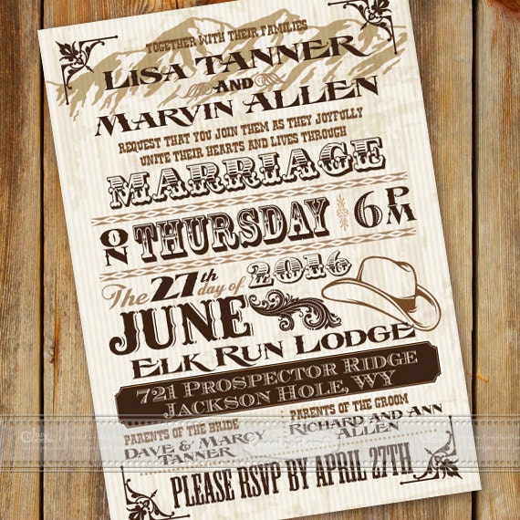wedding invitations, wedding invitations with rsvp, cowboy and cowgirl wedding invitations, ranch wedding, wedding package, IN457